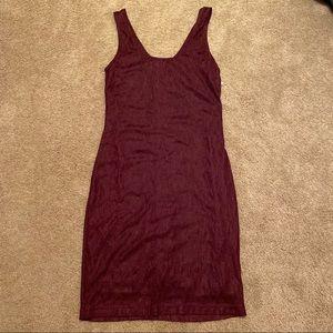 NWT Bar III Maroon Midi Dress